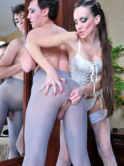 Evelina&Jack malewhore straponfucked in female clothes